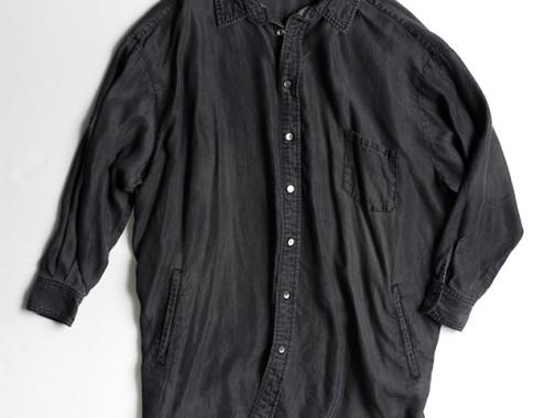 コクーンロングシャツ